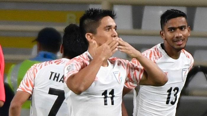 Chhetri passes Messi as India shock Thailand 4-1 at Asian Cup