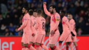 Messi scores, Barca beats Getafe to take 5-point lead at top