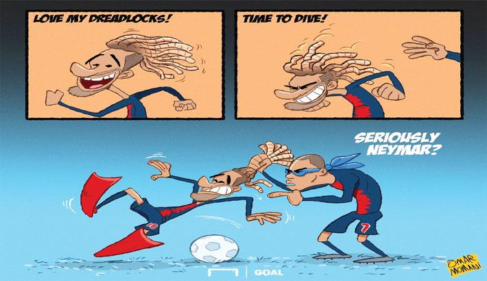 Neymar's Dreadlocks Fall Out During Match