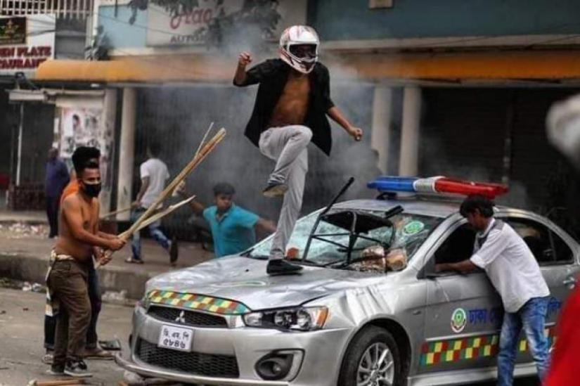 Man who 'set fire to cop car' November 14 arrested