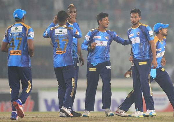 Dhaka Dynamites beat Rangpur Riders by 2 runs