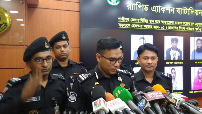 9 held on different charges in Gazipur