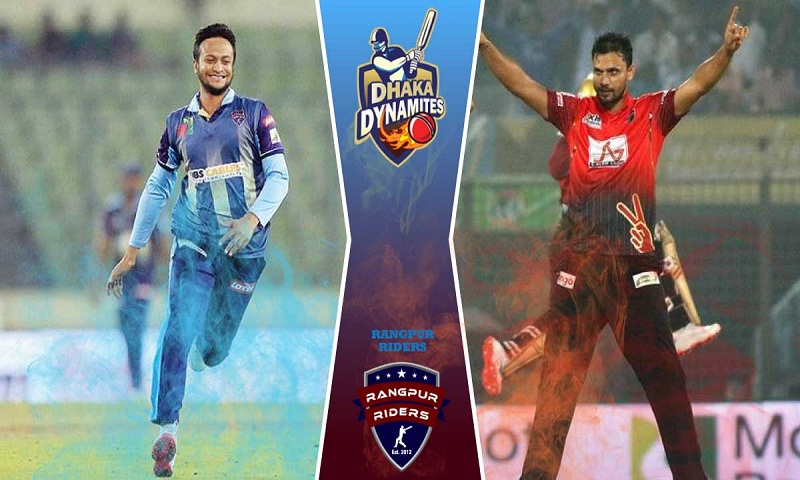 Dhaka Dynamites score 107/4 against Rangpur Riders