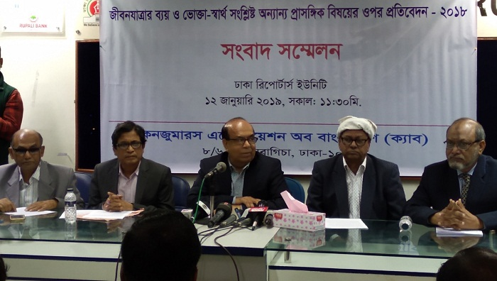 Cost of living in Dhaka increased 6 percent in 2018: CAB