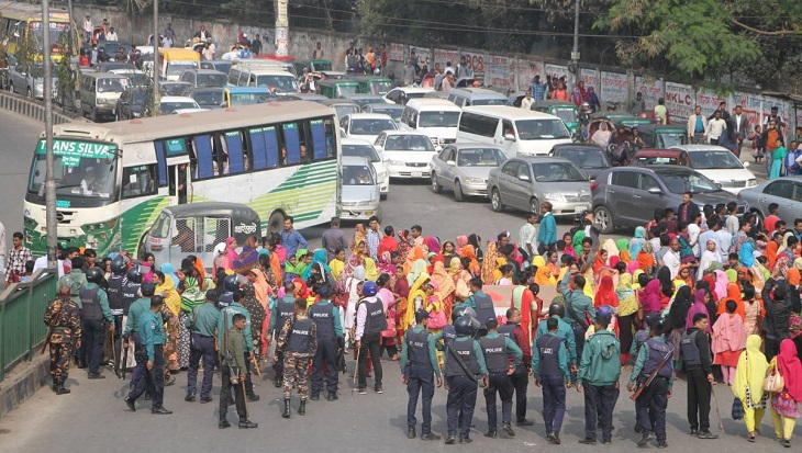 Readymade garment workers' unrest rolls into 6th day; 50 factories closed