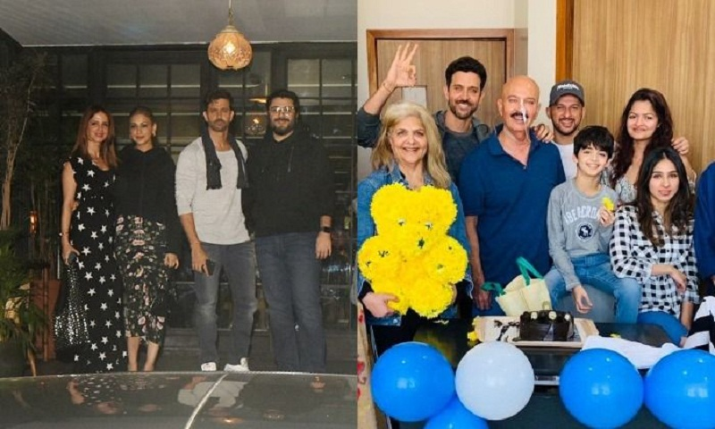 Hrithik Roshan celebrates birthday with dad Rakesh, parties with ex-wife Sussanne and Sonali Bendre