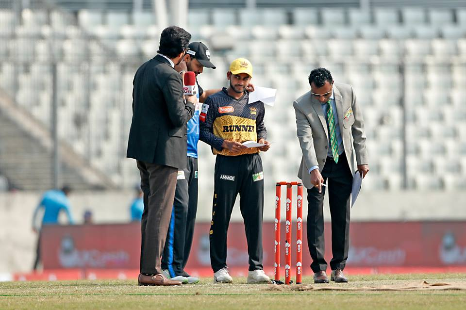 Rangpur Riders win toss, opt to field against Rajshahi Kings