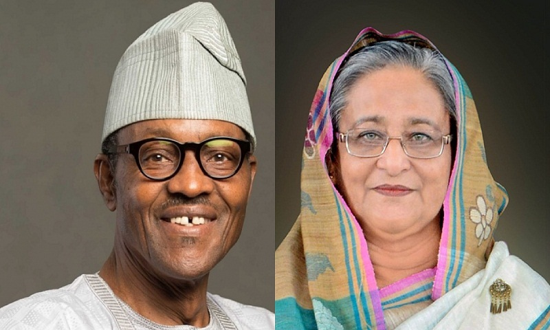 Nigerian President greets Hasina on her re-election