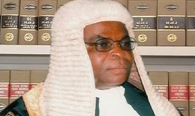 Nigeria's top judge absent from his corruption trial