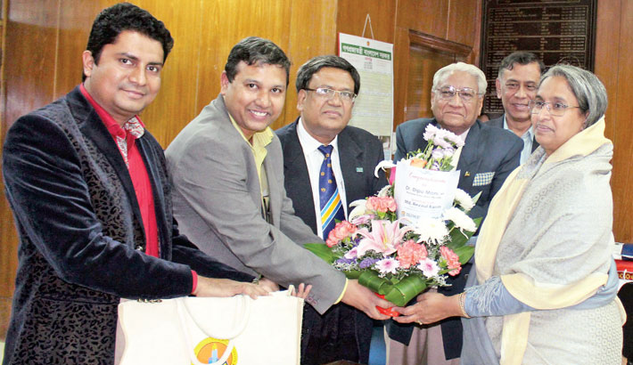 A delegation of Southeast University led by M Kamaluddin Chowdhury