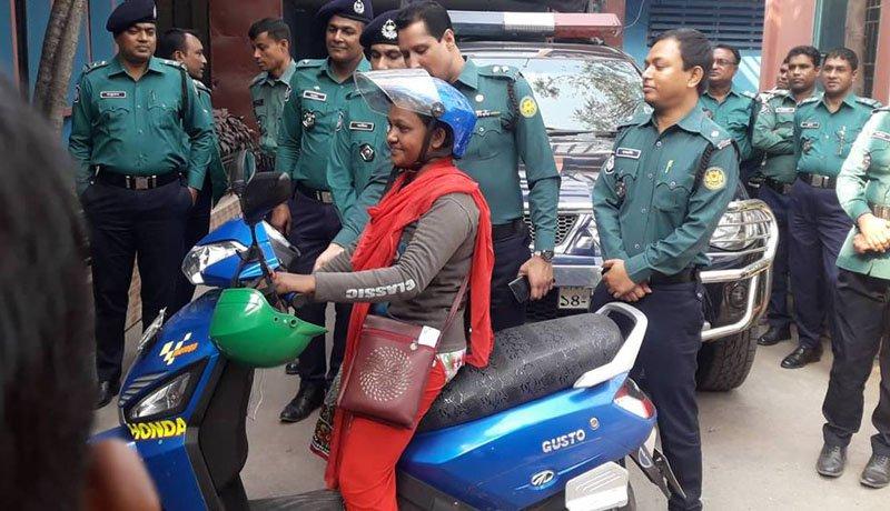 Shahanaj gets back her bike