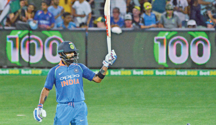 Ton-up Virat Kohli levels series in Adelaide