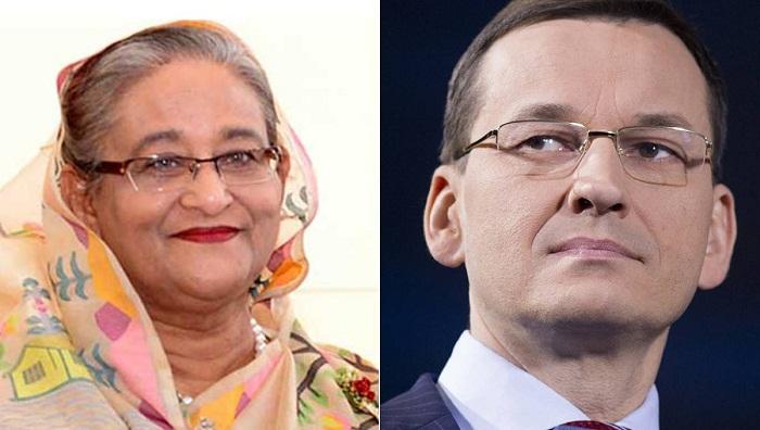 Polish Prime Minister greets Hasina