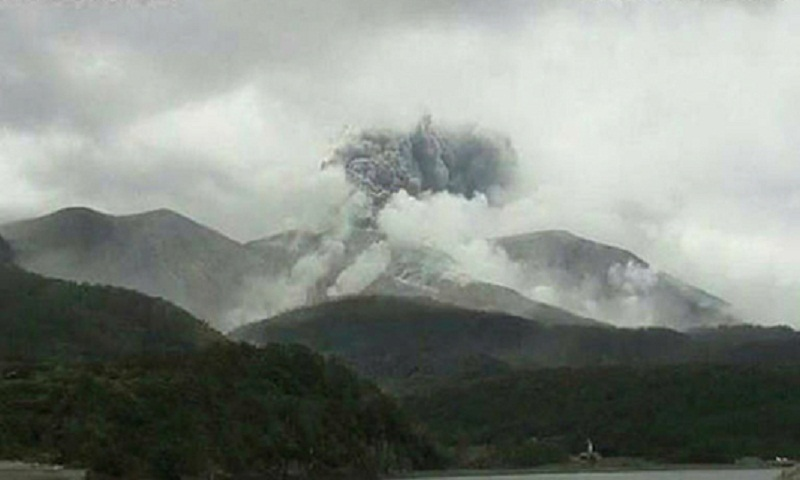 Volcano erupts on small Japan island: Agency