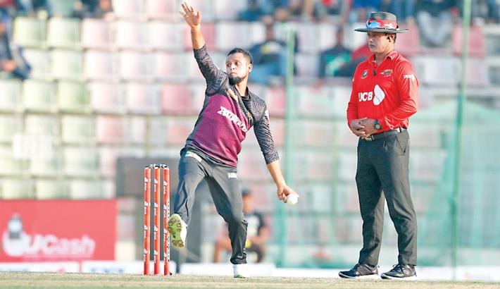 Rajshahi Kings left-arm spinner Arafat Sunny