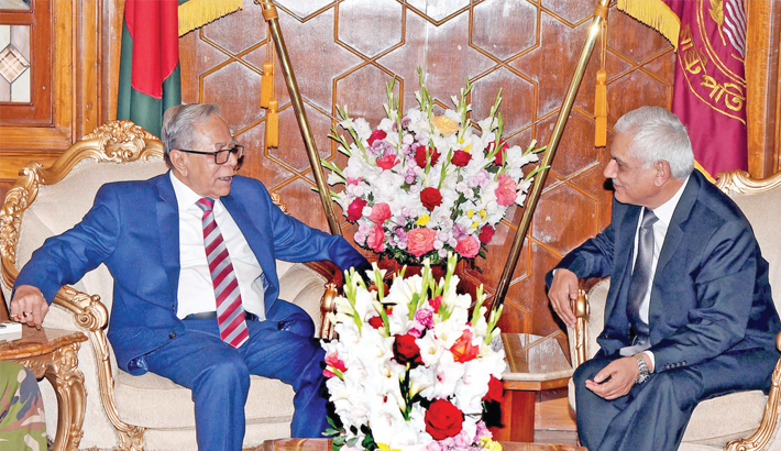 Outgoing Nepalese  envoy meets President, PM