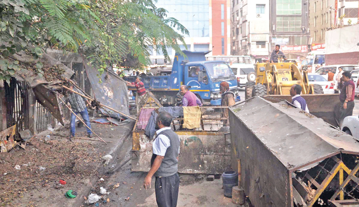Drive against illegal structures