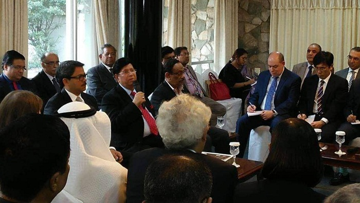 Foreign Minister Momen briefs diplomats at Padma