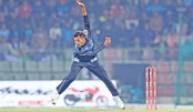 Rangpur Riders  pacer Shafiul Islam bowls against  Sylhet Sixers