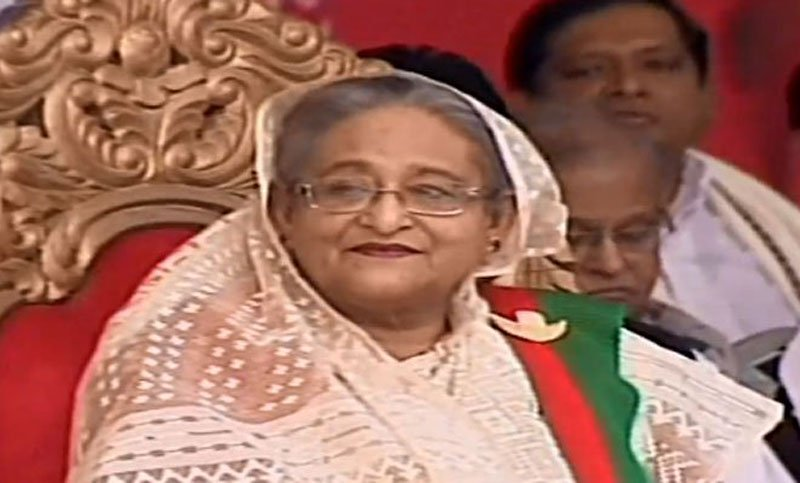 Election victory rally: PM Hasina reaches Suhrawardy Udyan