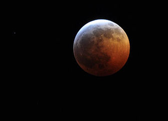 Moon eclipse Monday