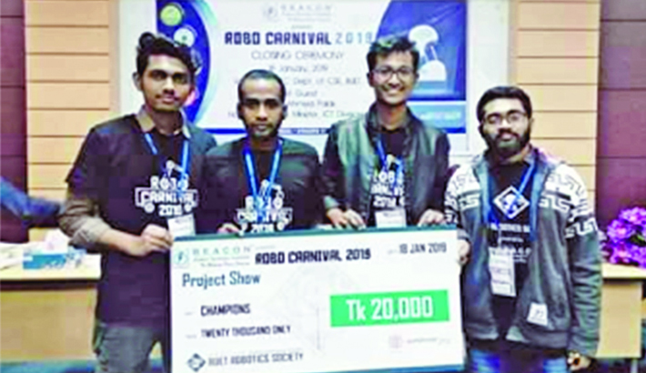 BSMRSTU becomes champion in RoBo Carnival competition