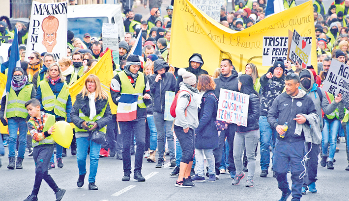 Anti-government demonstration called by the Yellow Vest movement