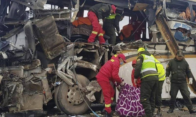 At least 22 killed in Bolivia bus crash