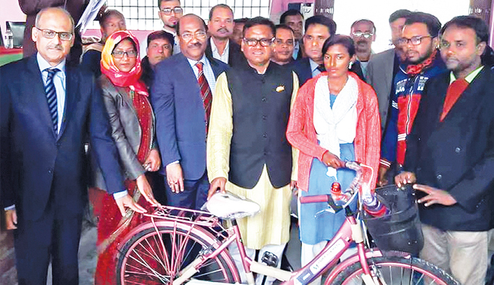 Southeast Bank  donates bicycles  to school girls
