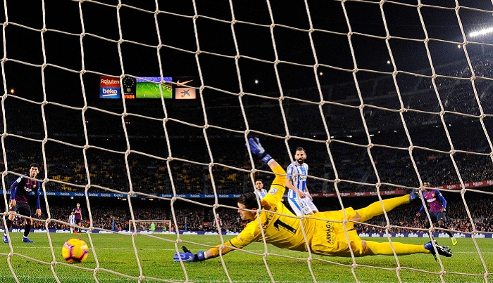 Barca takes 1-0 lead against Leganes in first half