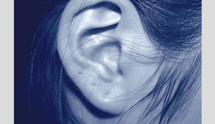 Woman unable to hear men's voices