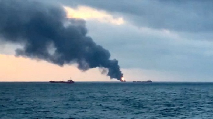 Ships hit by deadly blast near Crimea, 10 killed