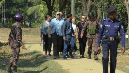 UN expert Lee visits Rohingya camps in Cox's Bazar
