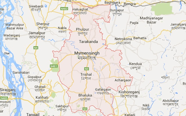 Students vandalise police station in Myemsningh