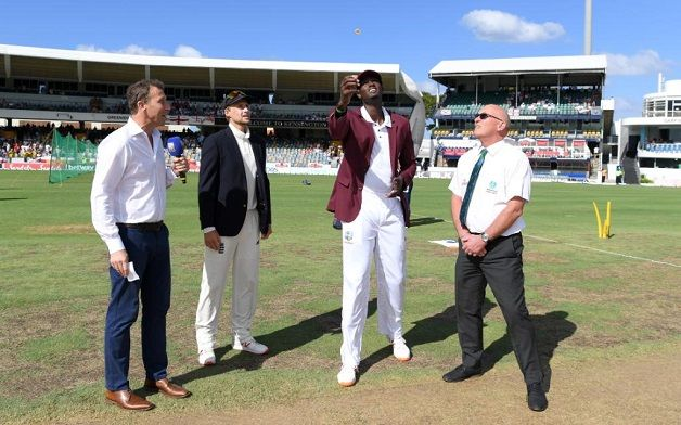 West Indies bat in first Test as England leave out Broad