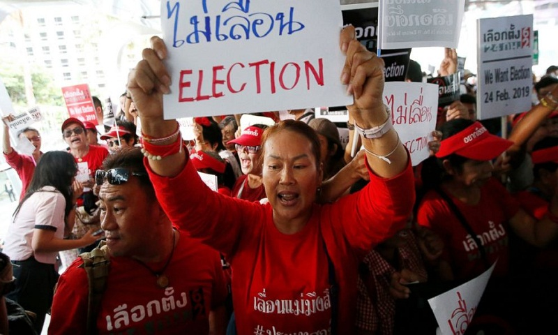 Thai royal palace issues decree on 1st election since coup