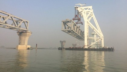 Seventh span of Padma Bridge installed