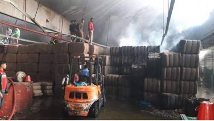 Fire burns National Jute Mills in Sirajganj