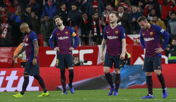 Sevilla beats Barcelona 2-0 in 1st leg of Copa quarterfinals
