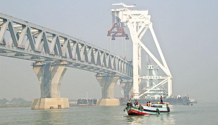 7th span of Padma Bridge installed