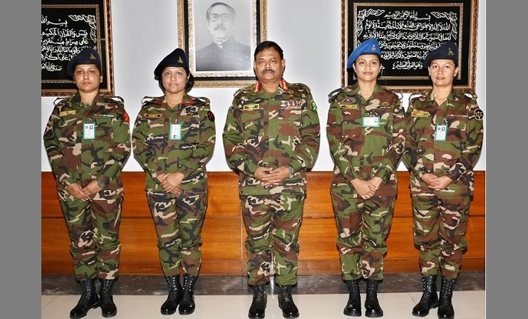Four women Major promoted to the rank of lieutenant colonel