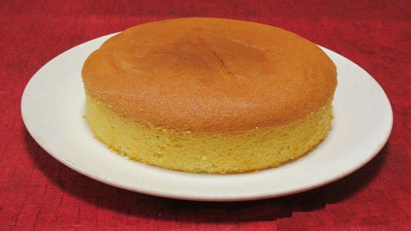 How to make plain sponge cake at home