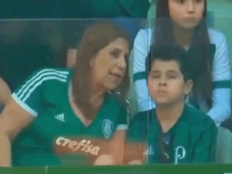 """""""Goooal!"""": Brazil mother narrates games for visually impaired son"""