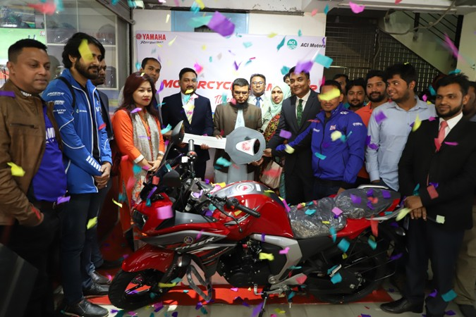 YAMAHA Motorcycle handover through BRAC Bank Motorbike financing facility