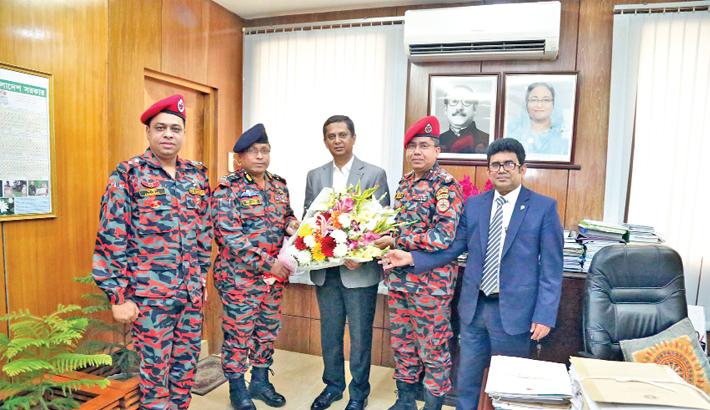 Director General of Fire Service and Civil Defense Brig Gen Ali Ahmed Khan