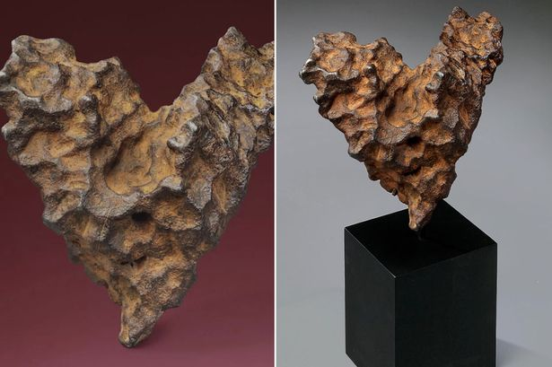 Love from outer space: This heart-shaped meteorite is going under the hammer for Valentine's Day