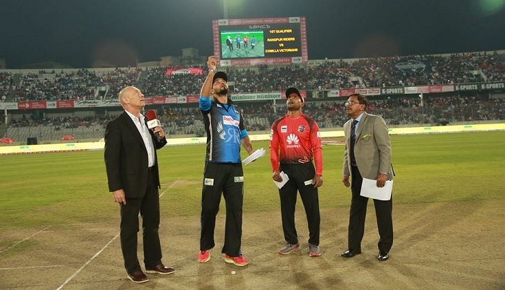 Rangpur Riders elect to bat first against Comilla Victorians