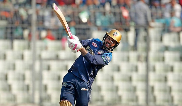 Dhaka Dynamites win by six wickets against Chittagong Vikings