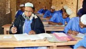 52-year-old father of 3 sits for Dakhil exams