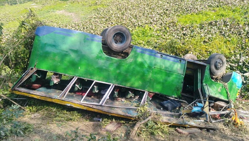 2 killed in Gopalganj bus plunge